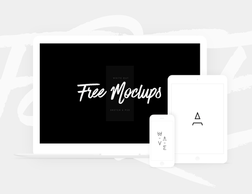 Free White Devices Mockups