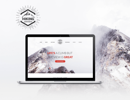Hiking Website free PSD