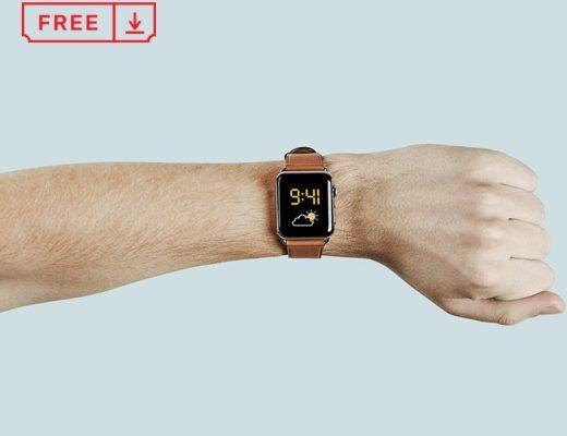 Apple Watch On Hand Mockup