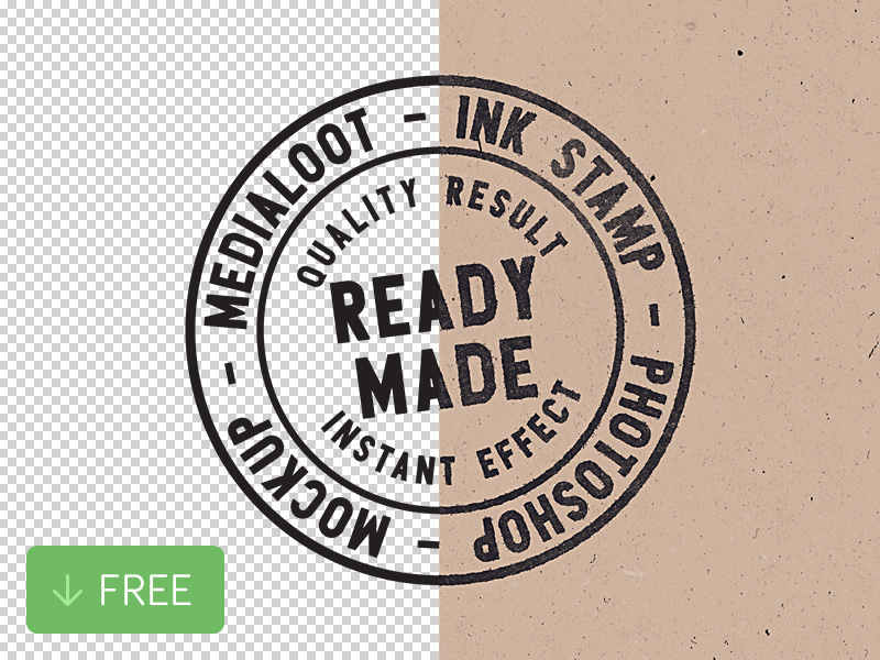 Free Ink Stamp Photoshop Mockup