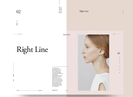 Free Minimal Magazine Website Template PSD