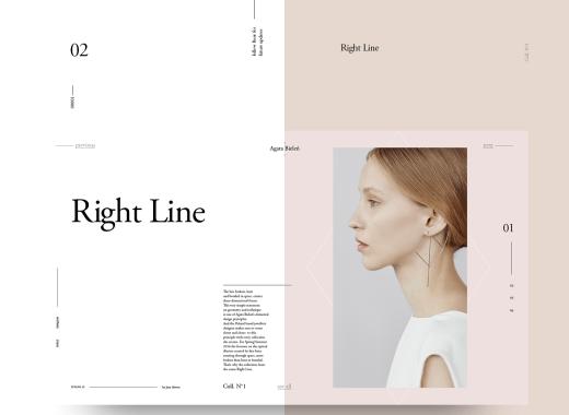 Free Minimal Magazine Website Template PSD