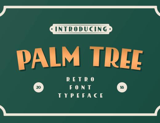 PalmTree Retro Font Style