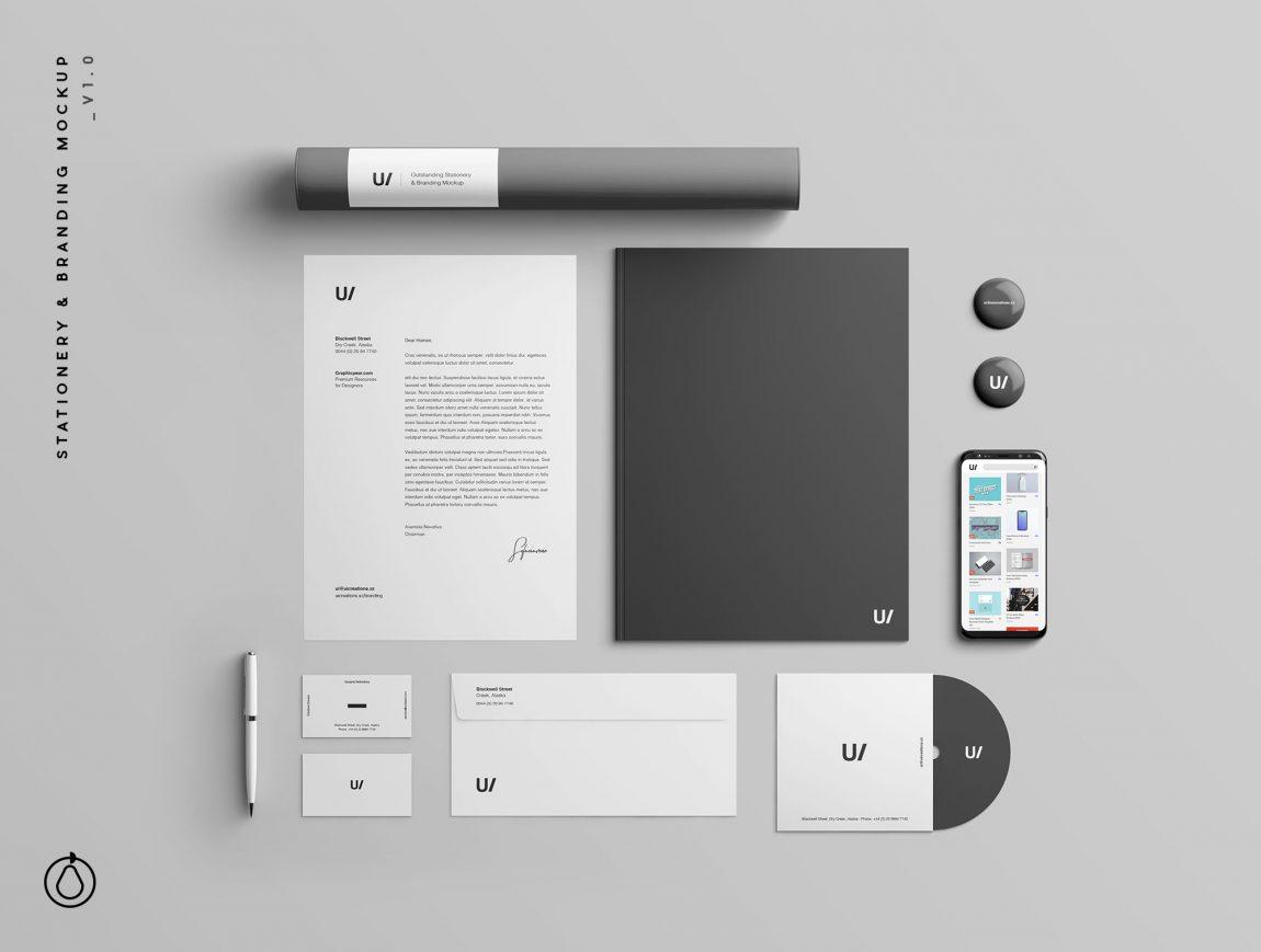 Stationery Branding & Identity Mockup Free PSD