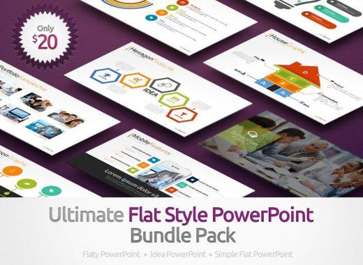 Flat Style Powerpoint Bundle