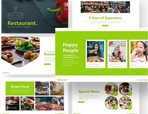 Free Restaurant PowerPoint Template