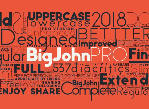Big John PRO Free Typeface
