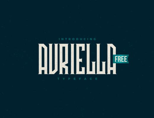 avriella typeface free font