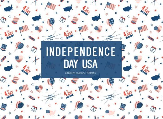 Independence Day USA Vector Free Pattern