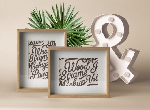Psd Wood Frame Mockup Vol9