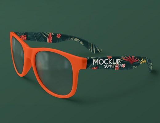 Free Sunglasses Mockup PSD