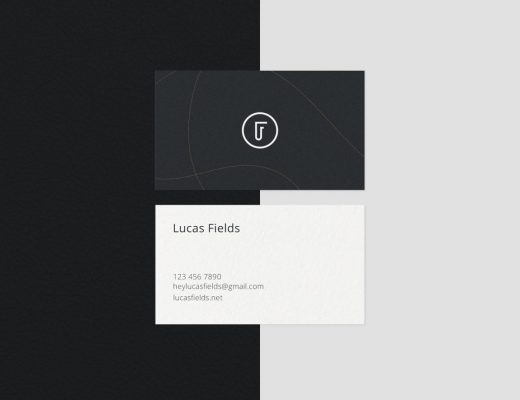 Minimalist Business Card Mockup Bundle