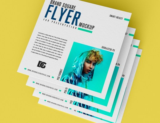 free square flyer mockup