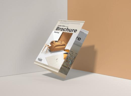free floating brochure mockup