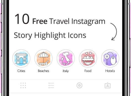 Travel Instagram Story Highlight Icons