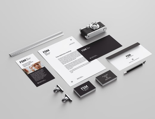 Free Creative Stationery Mockup