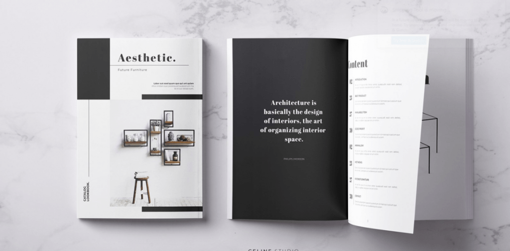 minimal brochure template for classy business