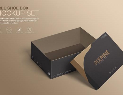 free shoebox mockup