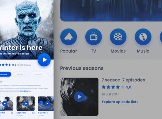 movie-mobile-app Movie IOS Mobile App Sketch File Free download