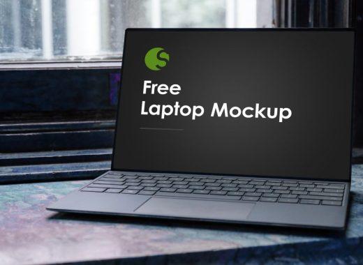 free laptop mockup PSD download