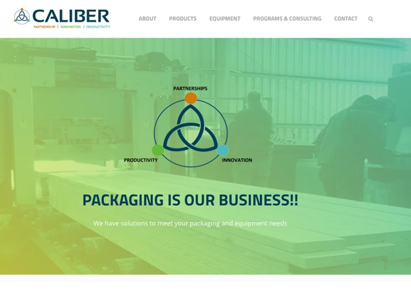 Caliber Packaging Web Design
