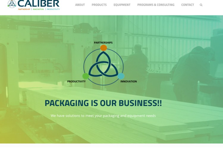 Caliber Packaging Web Design