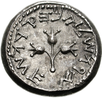 Three pomegranates in a coin / Classical Numismatic Group, Inc. http://www.cngcoins.com