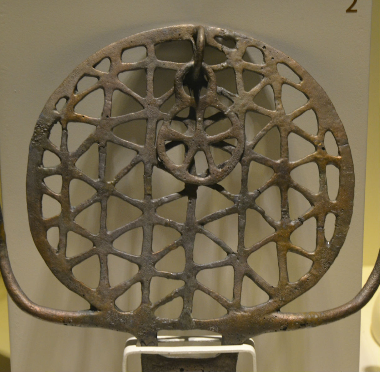 Rarely presented Hittite sun disc standard