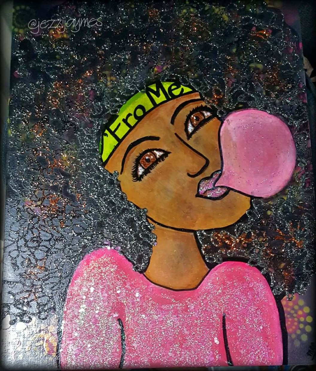 Afrocentric ebony painting