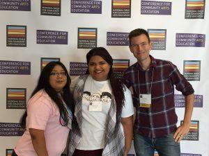 CLYTE Teen Ambassadors with Teen Programs Director Noah Martin