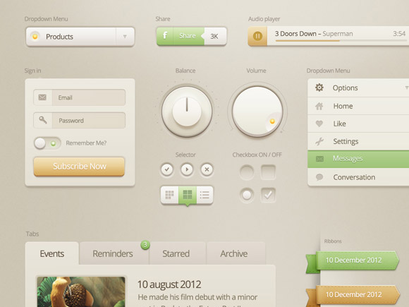 8-vanilla_cream_ui_kit