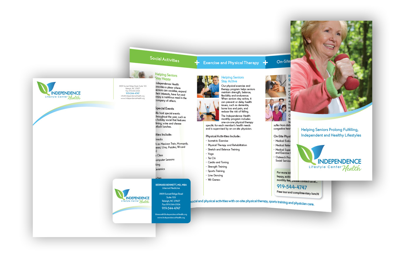 Independence Health Senior Center Branding Materials