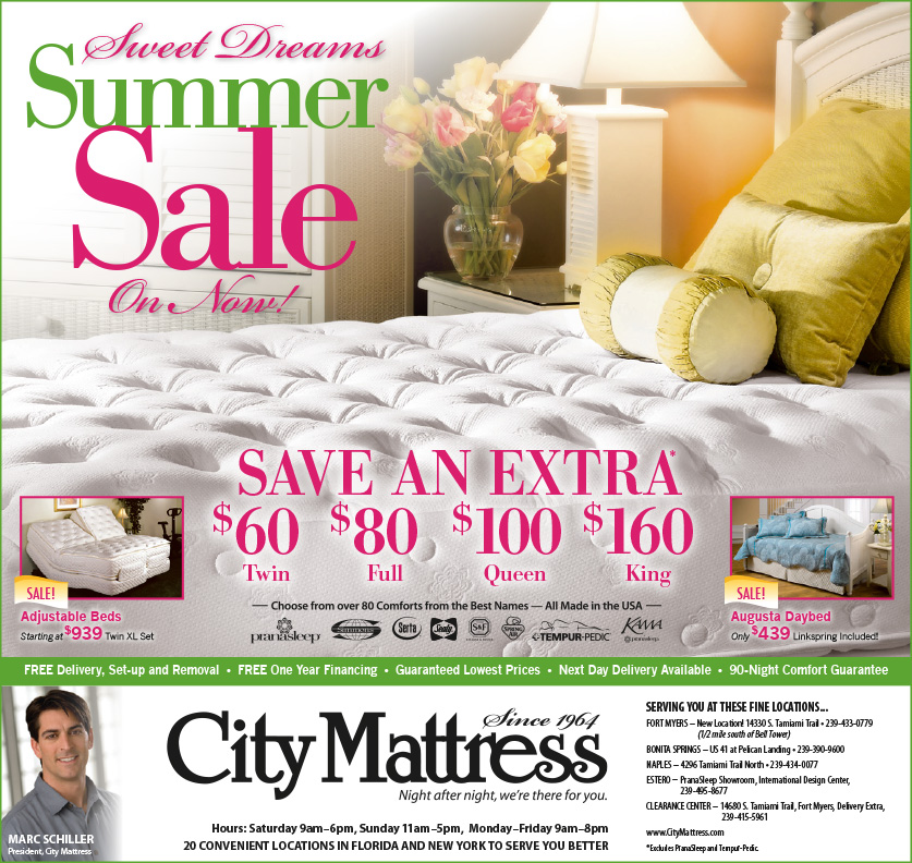 City Mattress Magazine Ads