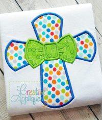 Cross Bow Tie Applique  Creative Appliques