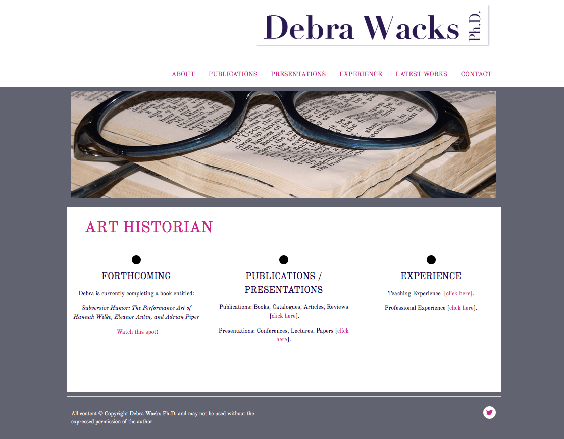 Debra Wacks Ph.D. Art Historian