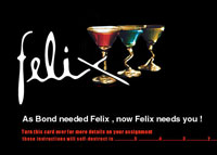 Felix Martini Postcard back