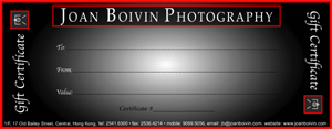 Joan Boivin Photography - Gift Certificate