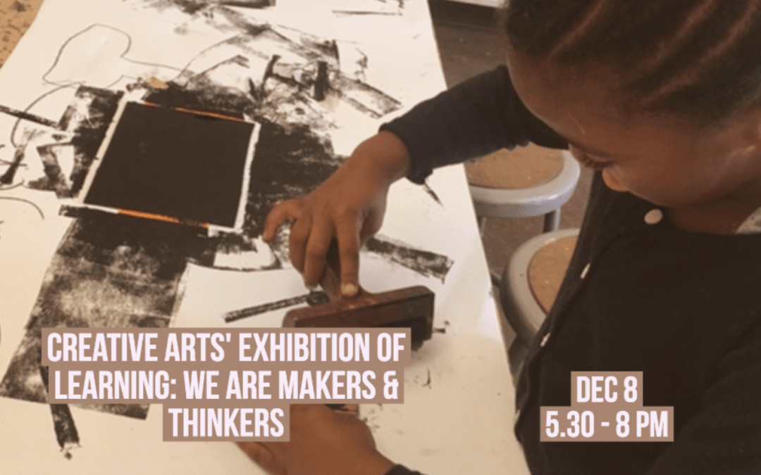 We are Makers & Thinkers!  from 5:30pm-8pm