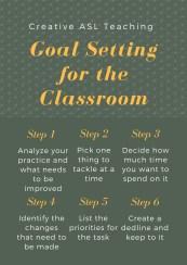 Summer Goal Setting - Creative ASL Teaching