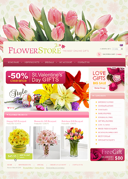 This curated suite of page layouts, components, interactions. 40 Great Premium Flower Shop Templates Creative Beacon