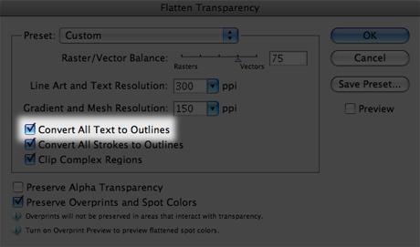 flatten transparency window