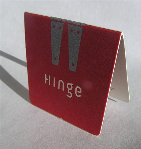 hinge business card