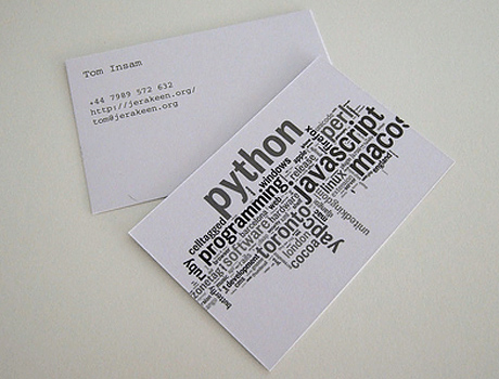 Cool business card designs, Part 3