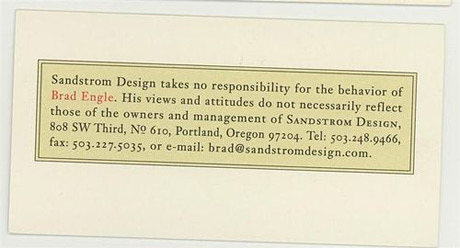 sandstorm  business card