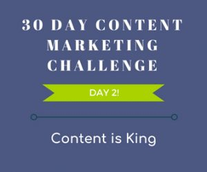 30 Day Content Marketing Challenge Day 2