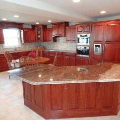 Cherry Kitchen Cabinets Lg Appliance Package Custom