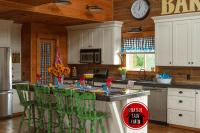 Log Home Kitchen in Fall - CREATIVE CAIN CABIN