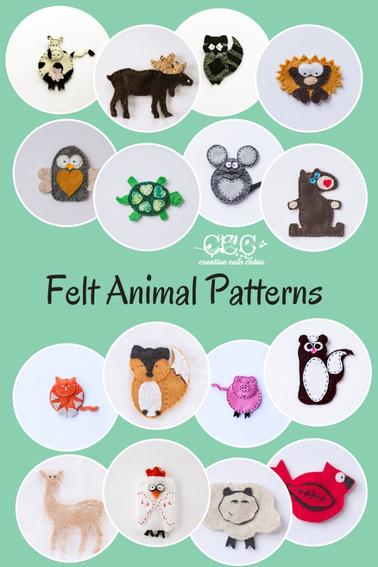 Free Felt Pattern : pattern, August, Patterns, CREATIVE, CABIN