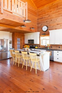Simple Fall Kitchen Decor in a Log Home - CREATIVE CAIN CABIN