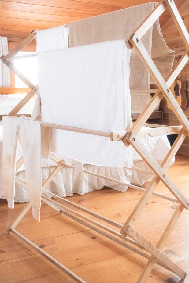 wooden drying rack creative cain cabin